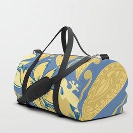 Samoan Orchid Sunset Polynesian Floral Duffle Bag