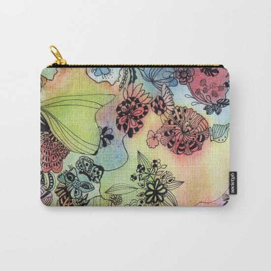 Sweet doodle flowers Carry-All Pouch