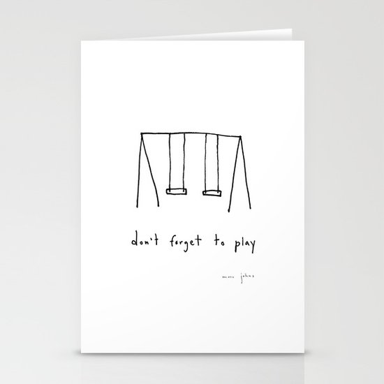 don't forget to play Stationery Cards