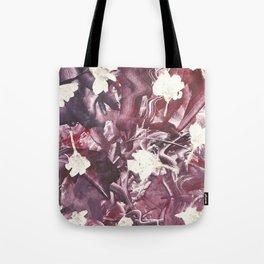Purple Blooms Monoprint Tote Bag