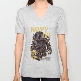 Happy Life Unisex V-Neck