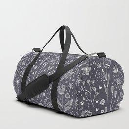 Chalkboard Flowers Duffle Bag