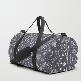 Chalkboard Flowers Duffle Bag