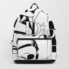Sketched Fashion19 White on Black Backpack