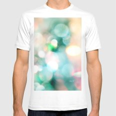 Aura Mens Fitted Tee MEDIUM White