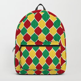 Retro Disco Jeweled Drops Pattern - Red Green Yellow Backpack
