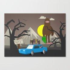 Beware of the Yeti Canvas Print