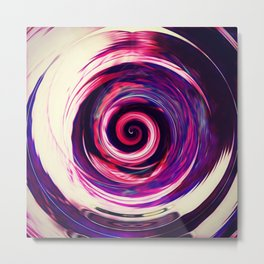 iDeal - Purp Spiral Metal Print