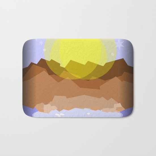 Midnight magical mountain Bath Mat