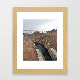 Lake Mead Spillway And Memorial Bridge Framed Art Print