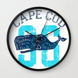 Cape Cod Whale Wall Clock
