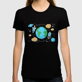 Flying Around Earth T-shirt