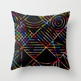 Rainbow Whackadoodle Throw Pillow
