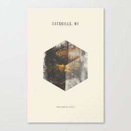 Minimalist Travel Poster - Catskills, NY Canvas Print