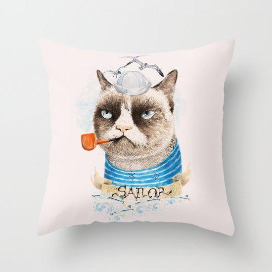 Sailor Cat VIII Throw Pillow