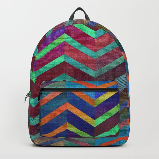Color Transition Chevron Backpack