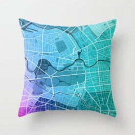 Berlin Map (Colour Gradient) Throw Pillow