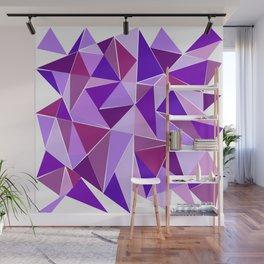 Purple Shards Geometric Pattern Wall Mural
