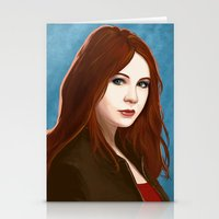 amy pond Stationery Cards featuring Amy Pond by MODBLOT: Art of Dan Marek