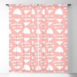 Retro Mid Century Modern Abstract Mobile 664 Peach Blackout Curtain