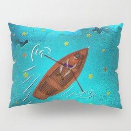 Boating through the Ocean Pillow Sham