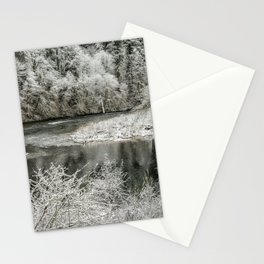 Late Winter's Snow Stationery Cards