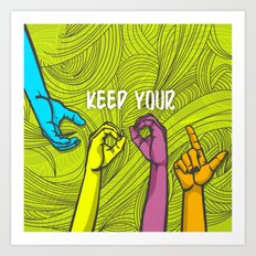 Keep Cool Art Print