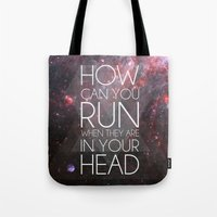 anxiety Tote Bags featuring Anxiety by Ruveyda & Emre