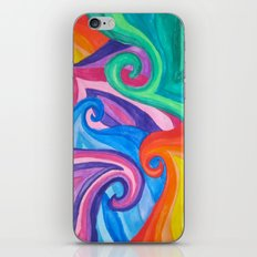 Colorful Swirls iPhone Skin