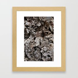 The barking tree Framed Art Print