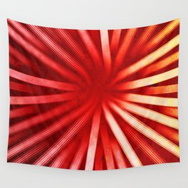 Intersecting Red Wall Tapestry