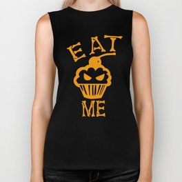 Eat me yellow version Biker Tank