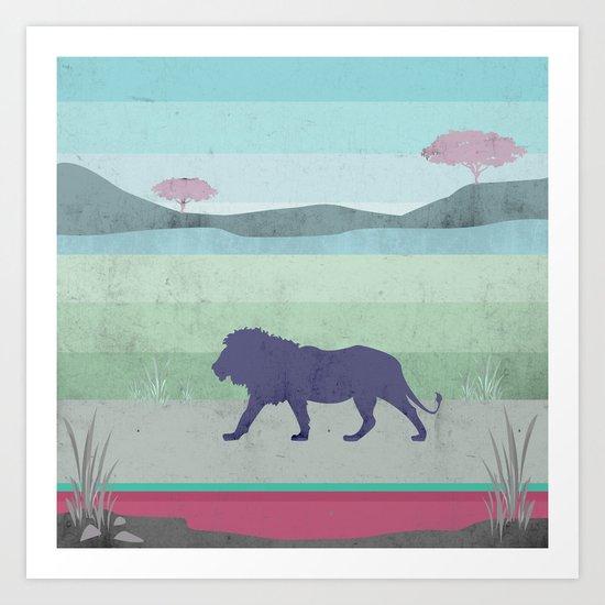 Lions are big kitties  Art Print
