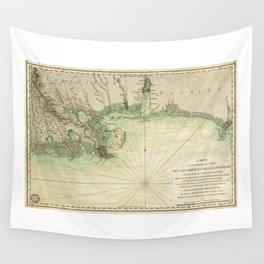 Map of Louisiana and Florida Gulf Coast (1778) Wall Tapestry