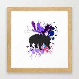 Splattered Paint Bear Framed Art Print