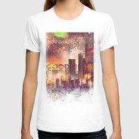 manhattan T-shirts featuring Good night Manhattan by HappyMelvin