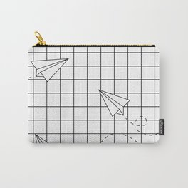 Paper Planes Grid Carry-All Pouch
