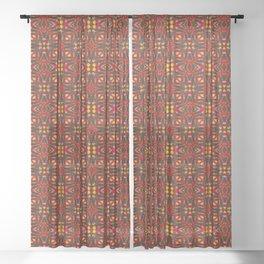Hot Batik Diamonds & Stars Sheer Curtain