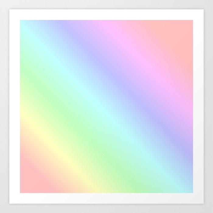 Pastel rainbow Kunstdrucke