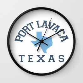 Port Lavaca Texas. Wall Clock