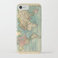 vintage map iPhone & iPod Cases featuring Vintage map by Hipster's Wonderland
