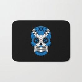 Sugar Skull with Roses and Flag of Scotland Bath Mat