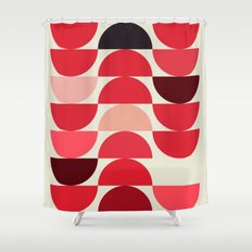 Red Bowls Shower Curtain