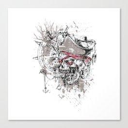 Skull Pirate - arrr, matey! Canvas Print