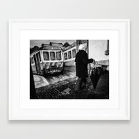 train Framed Art Prints featuring train by Joao Bizarro