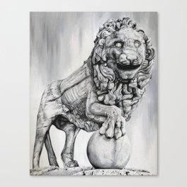 Medici Lion Painting Canvas Print