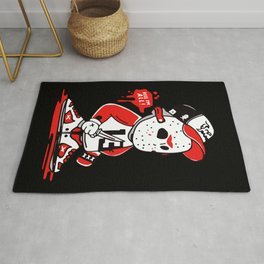 Jason Voorhees Kill I'm All Party Time Halloween Rug