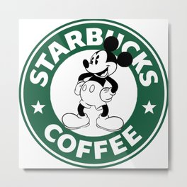 starbucks coffee mickey mouse Metal Print