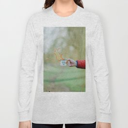 Spill the Coffee (Color) Long Sleeve T-shirt