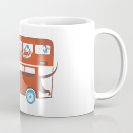 Dachshund on a London bus Coffee Mug